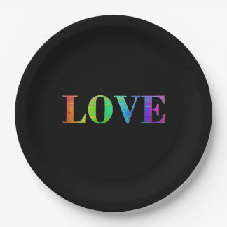 Love, Its all that Matters, LGBT Rainbow Plates