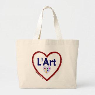 Love - J aime L Art Canvas Bag
