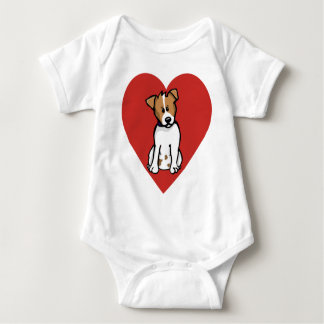 Love Jack Russell Baby Bodysuit