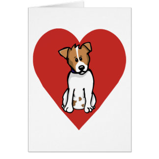 Love Jack Russell Greeting Card