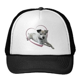 Love Jack Russell Dog Gifts Cap