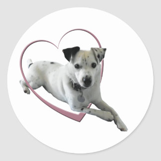 Love Jack Russell Dog Gifts Classic Round Sticker