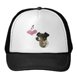 Love Jack Russell Dog with 3D Heart Cap