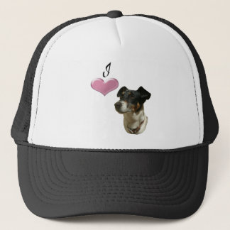 Love Jack Russell Dog with 3D Heart Trucker Hat