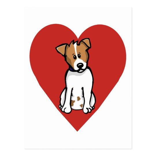 Love Jack Russell Postcard