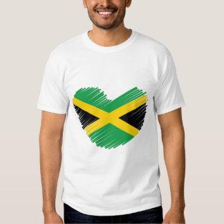 Love Jamaica Heart T Shirts