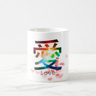 Love japanese word colorful katakana japan basic white mug