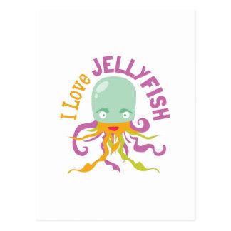 Love Jellyfish Post Card