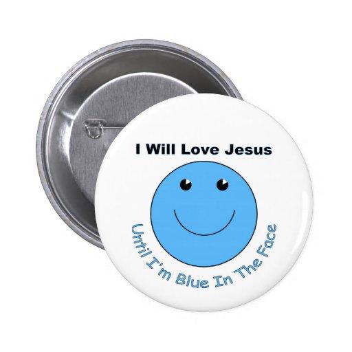 Love Jesus smiley face 6 Cm Round Badge