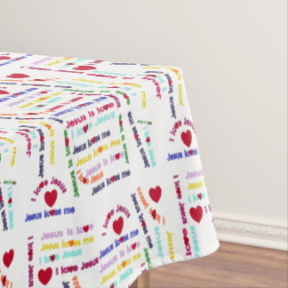 Love Jesus Tablecloth