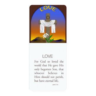Love, John 3:16 4x9.25 Paper Invitation Card