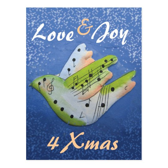 Love  & Joy 4 Xmas postcard