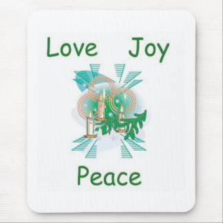 Love Joy and Peace Mouse Pad
