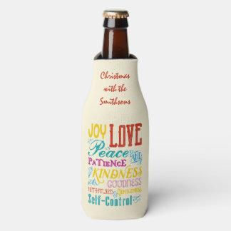 Love Joy Peace Kindness Goodness Typography Art Bottle Cooler