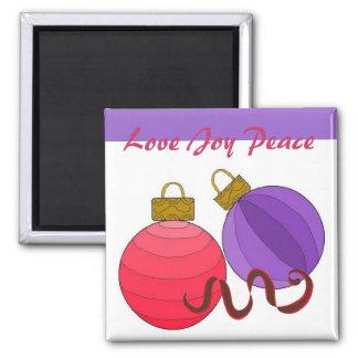 Love Joy Peace - magnet Refrigerator Magnets