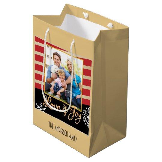 Love & Joy, Photo Personalised Christmas Medium Gift