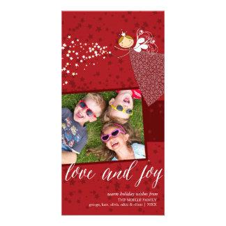 Love & Joy Snowflakes Christmas Fairy Holiday Card