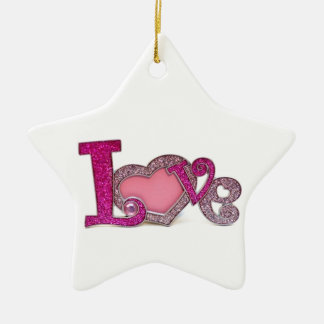Love.jpg Ceramic Star Decoration