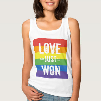Love Just Won - Celebrate Marriage Equality Basic Tank Top
