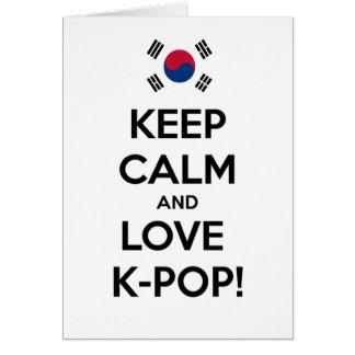 Love K-Pop! Greeting Card