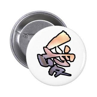love kanji pinback button