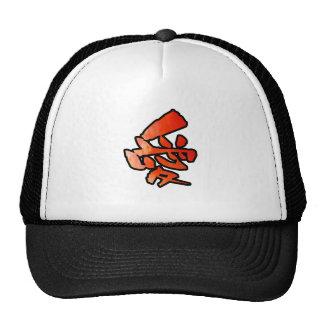 love kanji mesh hats