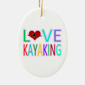 Love Kayaking Christmas Ornament