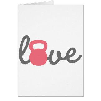 Love Kettlebell Pink Card