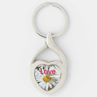 Love Keychains Moms Christmas Stocking Stuffers Silver-Colored Twisted Heart Key Ring