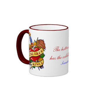 Love Kills Slowly Ringer Coffee Mug