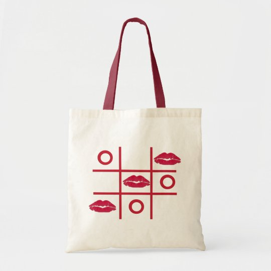 Love Kisses and Hugs Tic-tac-toe Budget Tote Bag