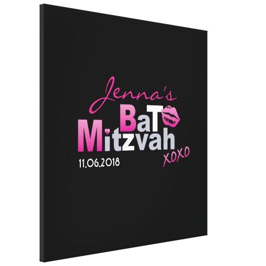 LOVE & KISSES Hot Pink Bat Mitzvah Sign-In