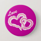Love Kissing Hearts 7.5 Cm Round Badge