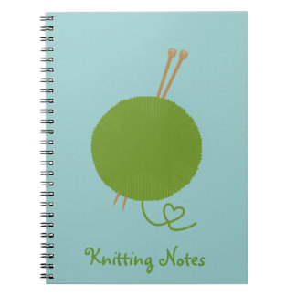 Love Knitting Notes Spiral Note Book