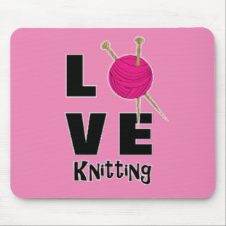 Love Knitting Wool And Needles Novelty Mouse Mat