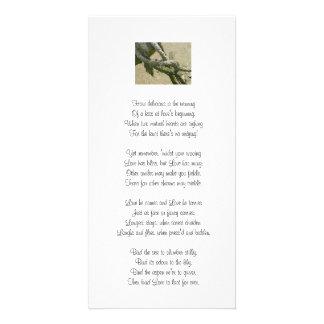 Love knot card photo card template