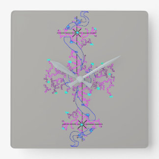 Love Knot Design, Square Wall Clock
