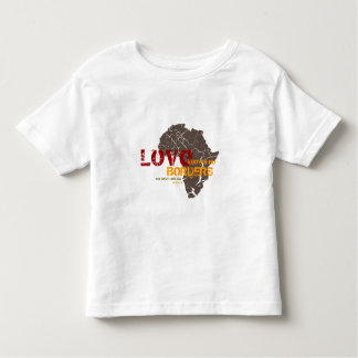 Love Knows No Borders - Africa Adoption Customized Toddler T-Shirt