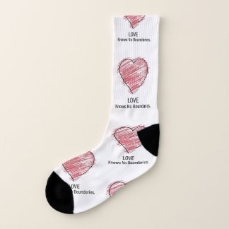 LOVE Knows No Boundaries. Socks