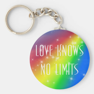 Love Knows No Limits Basic Round Button Key Ring