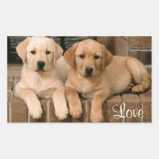 Love Labrador Retriever Puppies Sticker