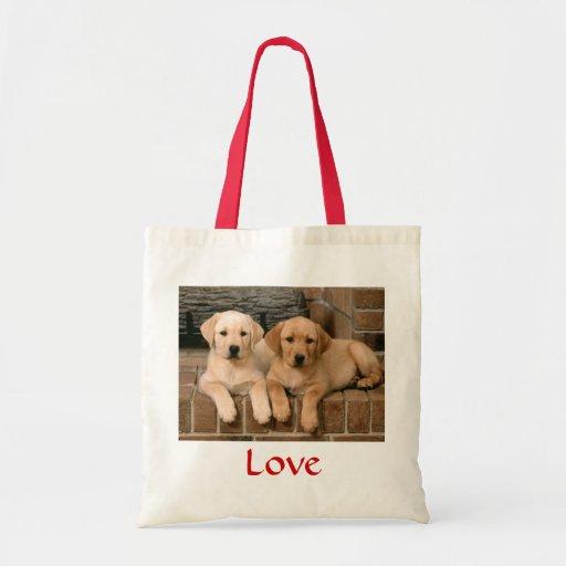 Love Labrador Retrievers Puppies Canvas Tote Bag