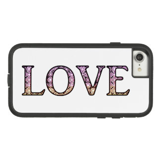 LOVE Lace pattern letters Case-Mate Tough Extreme iPhone 8/7 Case