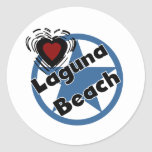 Love Laguna Beach Round Stickers