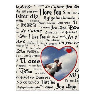 Love language 14 cm x 19 cm invitation card
