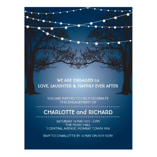 Love, Laughter & Happily Ever After engagement Postcard