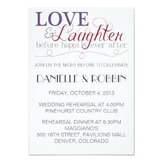 Love & Laughter Rehearsal Invitation