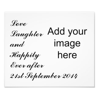 Love Laughter Wedding Anniversary template Photo Print