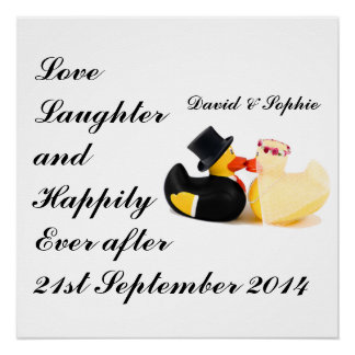Love Laughter Wedding Ducks