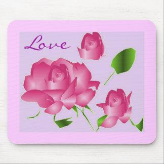 Love Lavender Rose Mousepad Mouse Pad